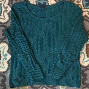 American Eagle Teal 3/4 Sleeve Sweater
